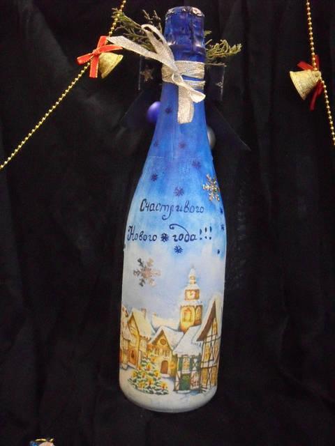 Декор новогоднего шампанского 20