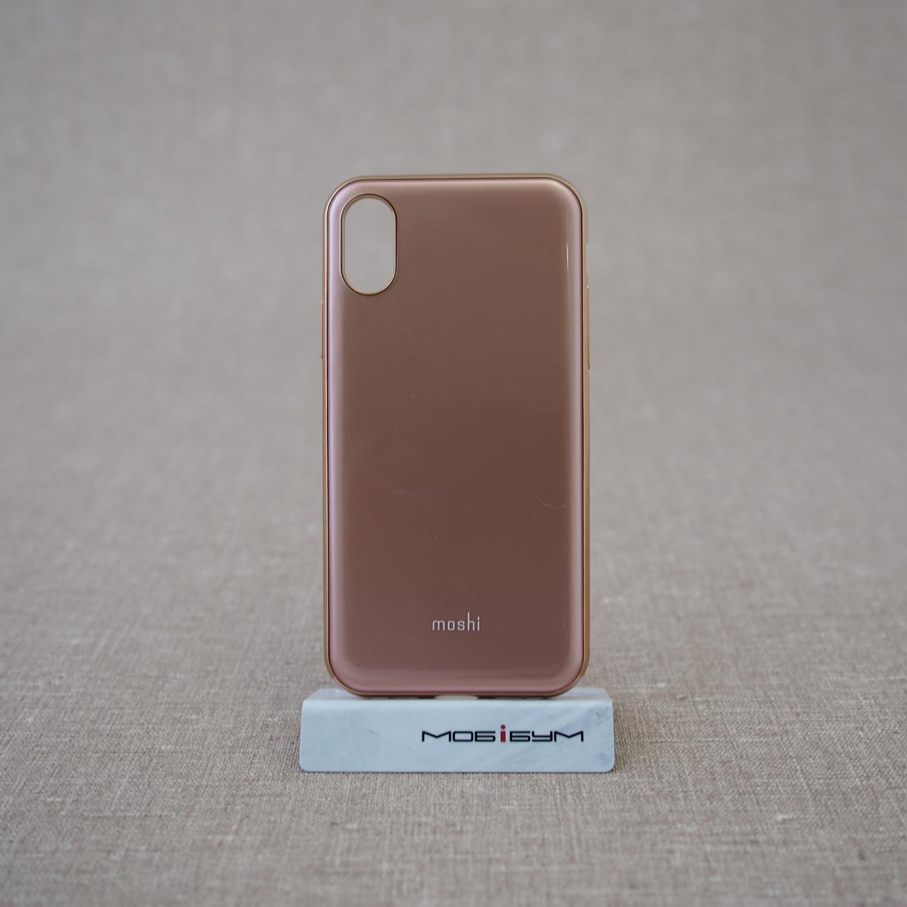 Чехол Moshi iGlaze Slim iPhone X taupe pink (99MO0101301) EAN/UPC: 4713057252549
