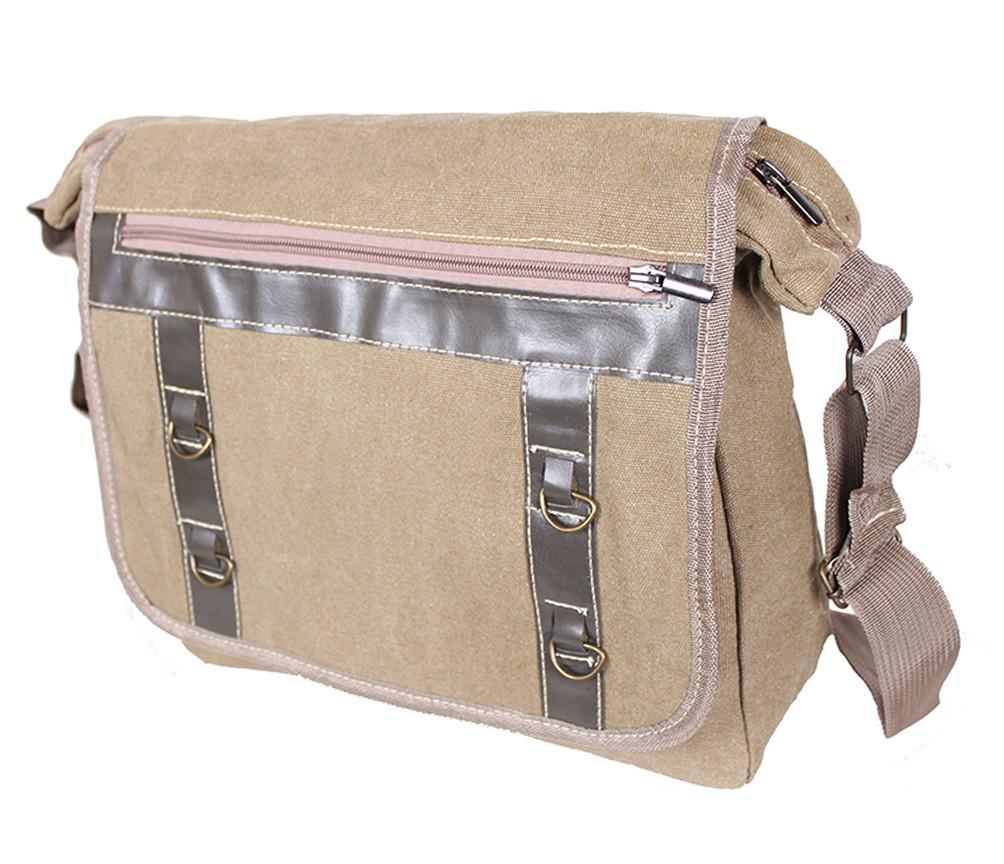 Мужская текстильная сумка 303227 бежевая