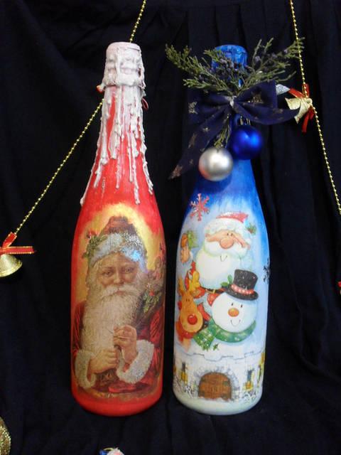 Декор новогоднего шампанского 22