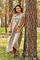 Восхитительное вышитое платье с расклешенной юбкой (П03/1-236), фото 1