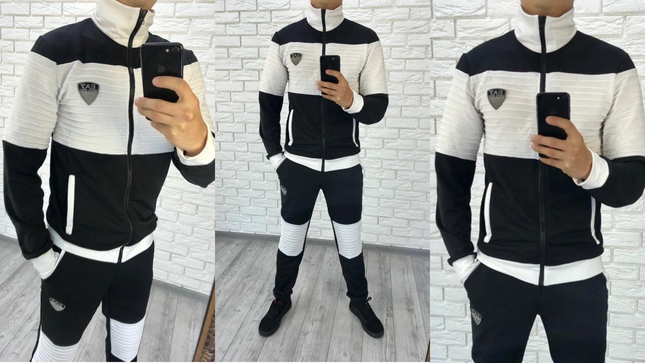 Мужской спортивный костюм комбинированный / 2 цвета  арт 6446-223