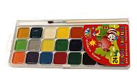 Краски акварель медовые ГАММА Забавные друзья 312081, 24 цвета, с/кист.