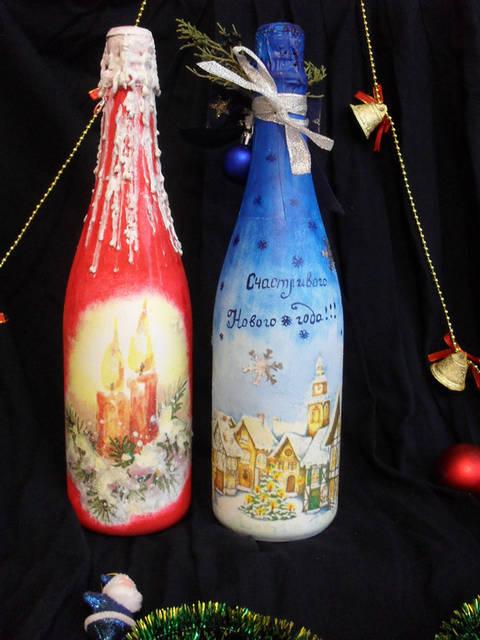 Декор новогоднего шампанского 24