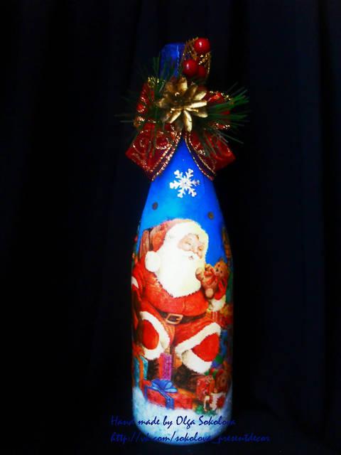 Декор новогоднего шампанского 10
