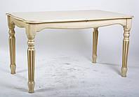 Стол обеденный раскладной Венеция 120 слоновая кость