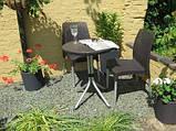Комплект садових меблів зі штучного ротангу CHELSEA SET графіт (Keter), фото 2