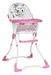Стул для кормления розовый Lorelli MARCEL PINK RABBIT