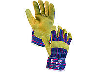 Перчатки рабочие комбинированные спилок с х/б  Zoro.  Размер 10