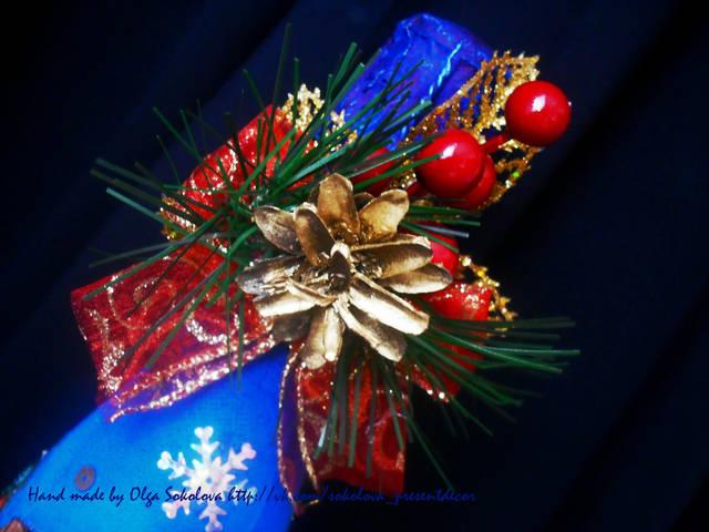 Декор новогоднего шампанского 12