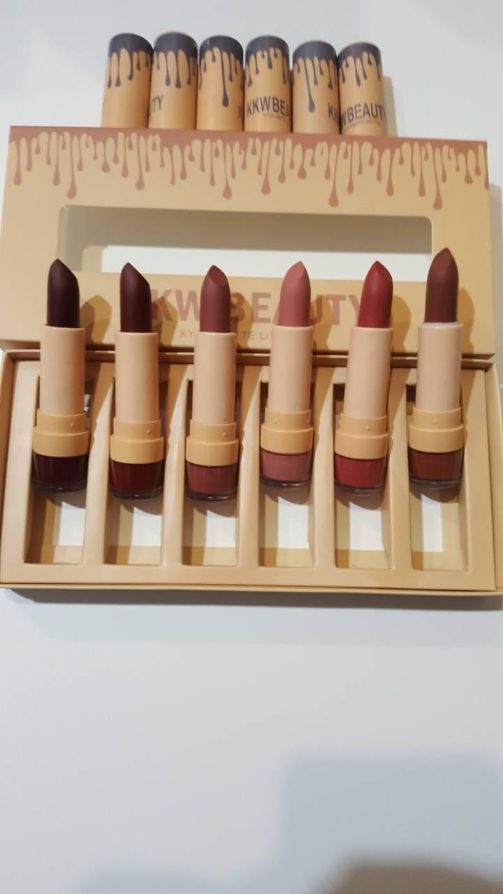 KKW BEAUTY kylie matte lipstick набор 6 матовых помад