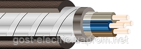 КВВГэ 4х1,5 Контрольный кабель с медными скручеными жилами экранированный в ПВХ изоляции и ПВХ оболочке