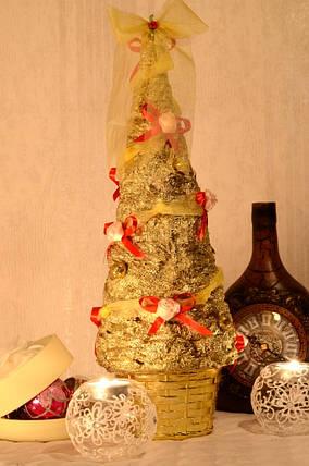 Елка золотая с розочками, фото 2