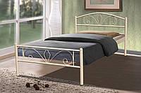 Кровать металлическая Релакс 0,9 бежевая