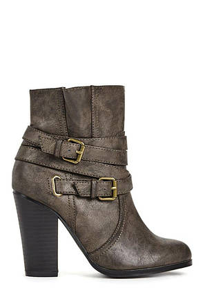 Ботильоны JustFab Womens Gisele Black, фото 2