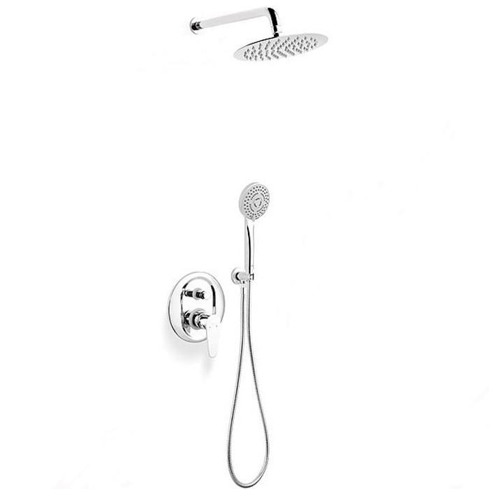 FERRO Rotondo Душевая система скрытого монтажа, с верхним душем, хром