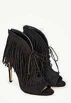 Ботильоны JustFab Womens Honta Black, фото 3