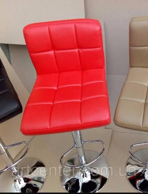Стілець визажный, стілець барний, стілець для адміністратора, хокер чорний (Даніель червоний)