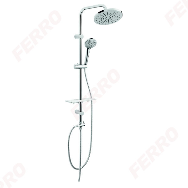 FERRO Rondo Lux Душевая система с верхним душем, хром