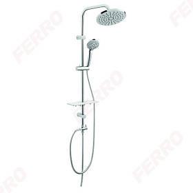 FERRO Rondo Lux Душова система з верхнім душем, хром