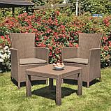 Комплект меблів для саду зі штучного ротангу ROSARIO BALCONY SET капучіно ( Allibert ), фото 2