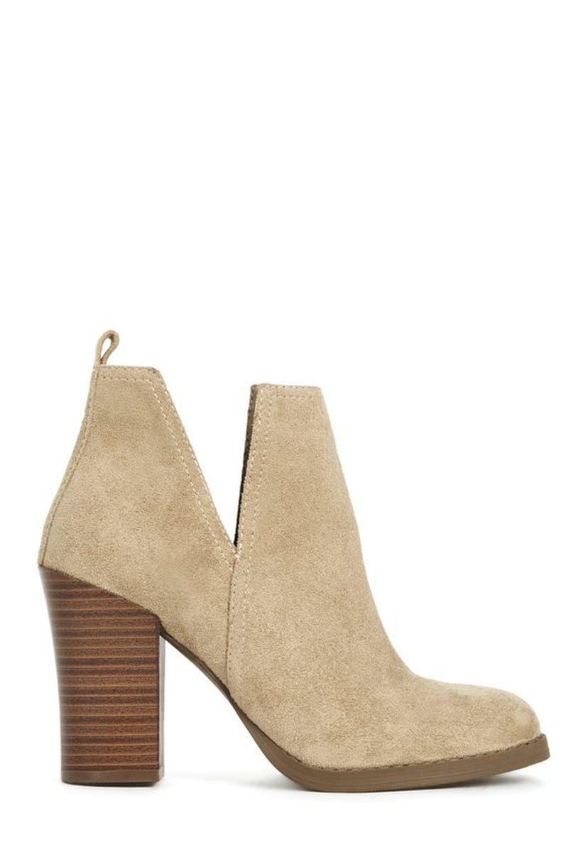 Ботильоны JustFab Womens Efie Natural