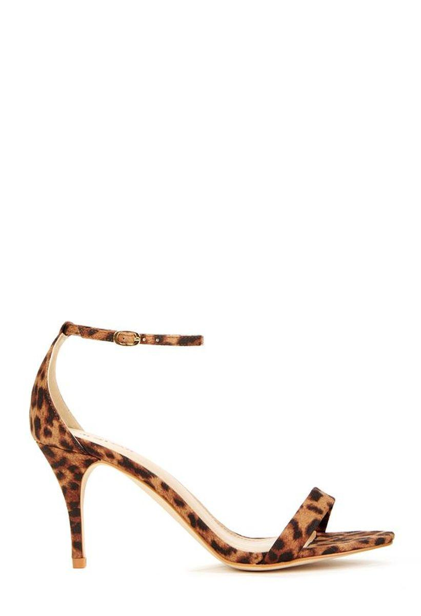 Босоножки JustFab Womens Siscia Leopard