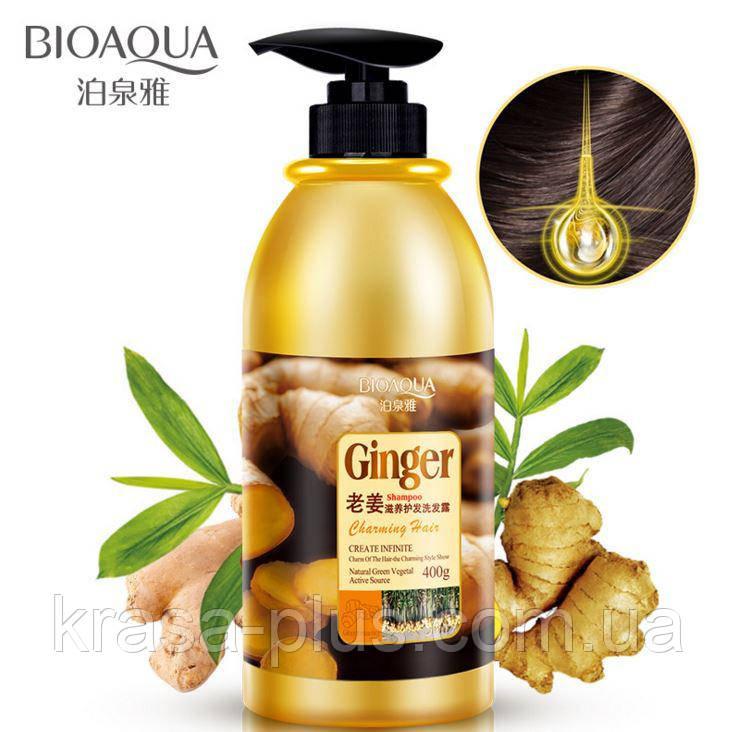 Имбирный шампунь для волос BioAqua Ginger Shampoo