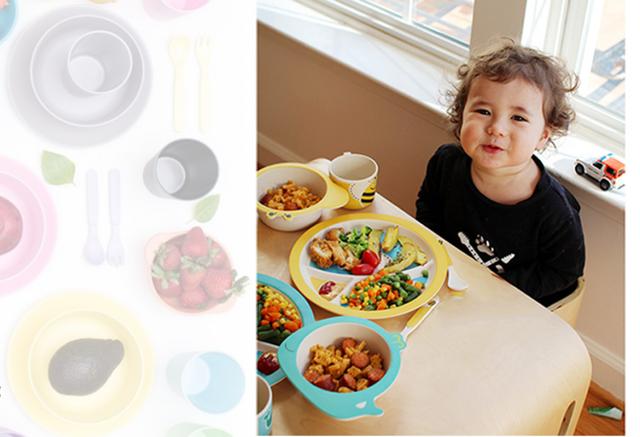 Детская бамбуковая посуда (набор большой)