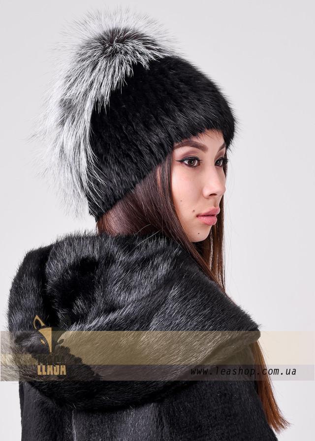 Зимняя шапка для женщин с меховым обручем ФОТО