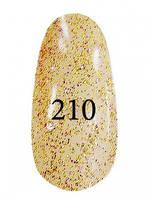 Гель лак №  210(Золотой с фиолетовым блеском )7 мл. Kodi