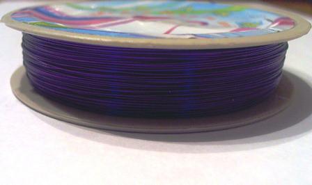 Дріт для рукоділля (0,3 мм) у котушке 30 м. (фіолетова)