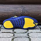 Баскетбольные кроссовки PSNY x Air Jordan 12 Michigan PE (Найк Аир Джордан 12) в стиле синие, фото 4