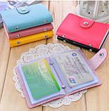 Кошелёк для кредитных карт кардхолдер для карточек визитница цвета, фото 2