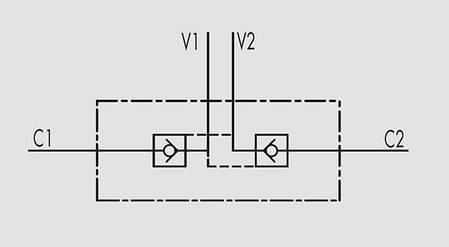 """Гидрозамок двусторонний 20 л/мин, G 1/4"""", фото 2"""