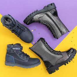 Розмір 30-38 Підліткові демісезонні черевики і чоботи для хлопчика і дівчинки