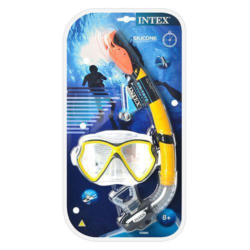 Набор для плавания 55960  маска, трубка, возраст от 8 лет, в слюде, 45-24-8см