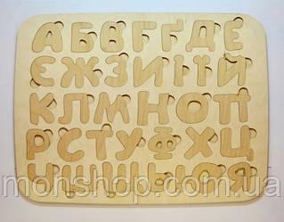 Деревянная азбука (укр.) 25х25 cм