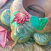 Черепаха-Цветочница из бетона, бетонная клумба