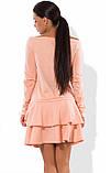 Платье-чарльстон из французского трикотажа персиковое, фото 2