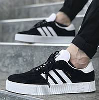 "Кроссовки Adidas Samba Rose ""Black/White"" (Черно-белые)"
