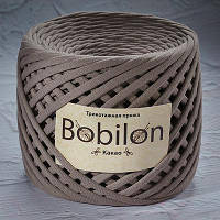 Трикотажная пряжа Бобилон MEDIUM 7-9 мм какао № 6017
