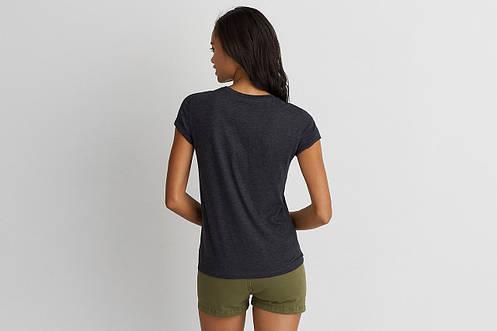 Футболка AEO Graphic Crew T-Shirt Black, фото 2