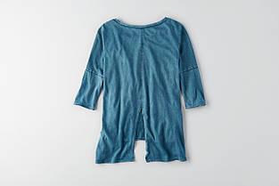 Футболка AEO Split Back T-Shirt BLUE, фото 3