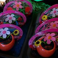 Сувенир танцующий цветок Flip-Flap на солнечной батарее