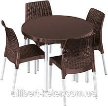 Набір садових меблів JERSEY SET темно-коричневий ( Keter )