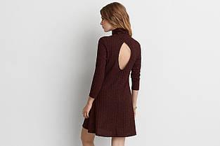 Платье AEO Ribberd Turtleneck Dress BURGUNDY, фото 2