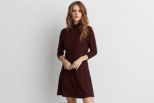 Платье AEO Ribberd Turtleneck Dress BURGUNDY, фото 3