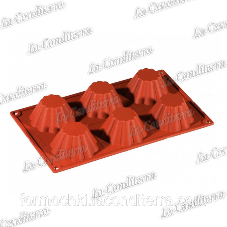 Силіконова форма для випічки Pavoni Briochette Cannellata FR012