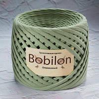 Трикотажная пряжа Бобилон MEDIUM 7-9 мм оливковый № 6030